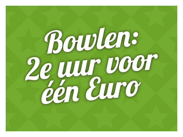 Bowlen: 2e uur voor één Euro